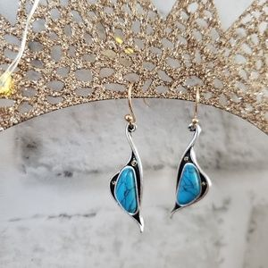 Jewelry - 925 Silver and turquoise dangle earrings